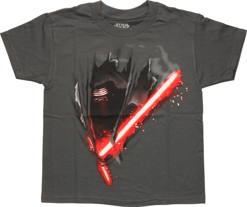 Star Wars Force Awakens Kylo Ren Cut Youth T-Shirt