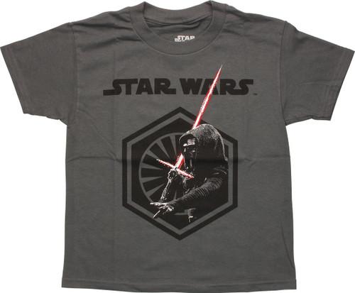 Star Wars Force Awakens Kylo & Logo Youth T-Shirt