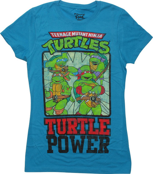 Ninja Turtles Heroes Turtle Power Juniors T-Shirt