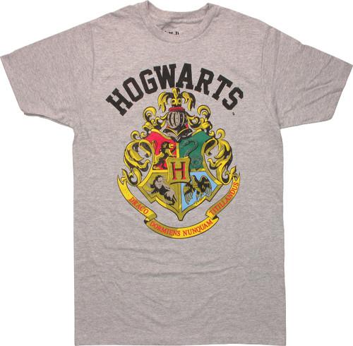 Harry Potter Hogwarts Crest Heather T-Shirt