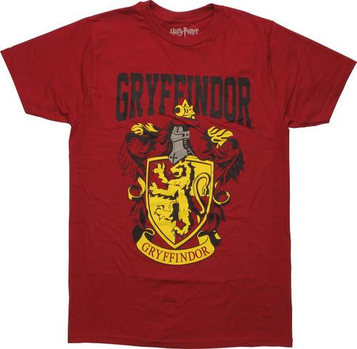 Harry Potter Gryffindor Name Crest T-Shirt