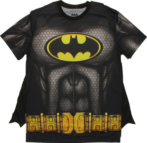 7a95bb27a822 Batman Sublimated Costume with Cape T-Shirt