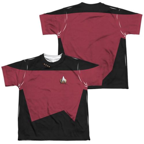 Star Trek TNG Command FB Dye Sub Youth T Shirt