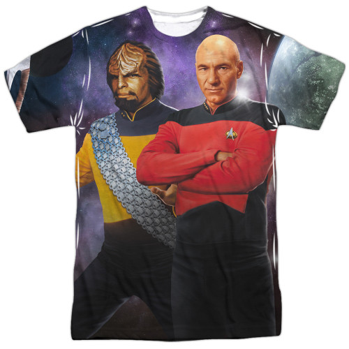 Star Trek TNG Worf Picard Sublimated T Shirt