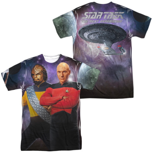 Star Trek TNG Worf Picard FB Sublimated T Shirt