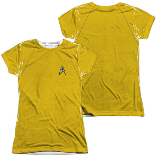 Star Trek TOS Command FB Sub Juniors T Shirt