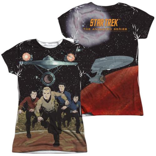 Star Trek TOS Running FB Sub Juniors T Shirt