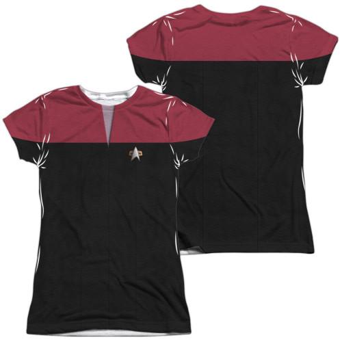 Star Trek Voyager Command FB Sub Juniors T Shirt