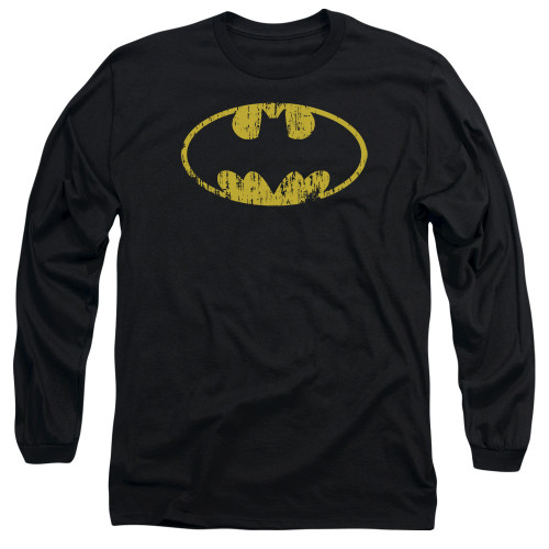 Batman Distressed Symbol Long Sleeve T Shirt