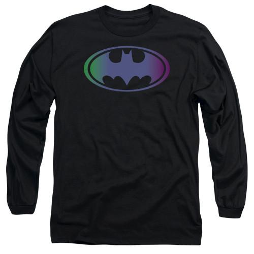 Batman Gradient Logo Long Sleeve T Shirt