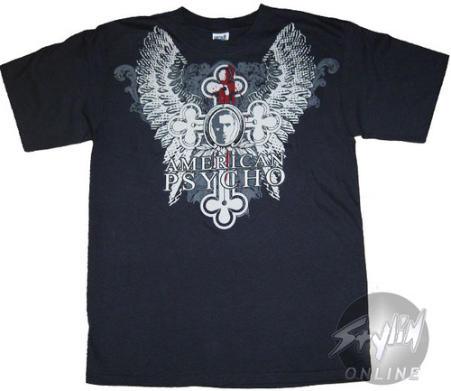 American Psycho Wings Cross T-Shirt