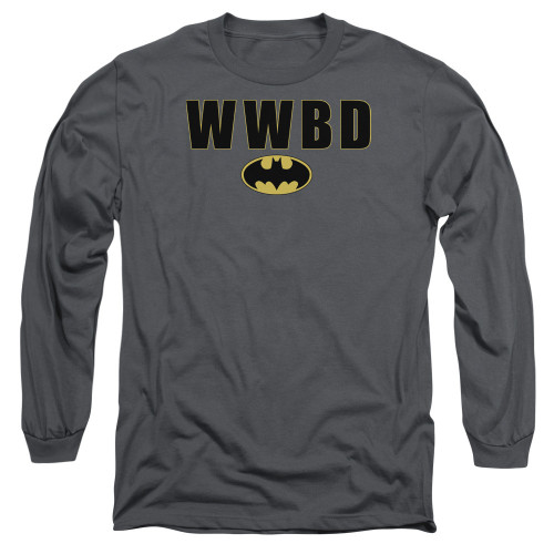Batman WWBD Logo Long Sleeve T Shirt