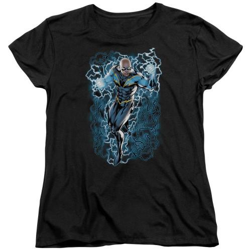 Black Lightning Ladies T Shirt