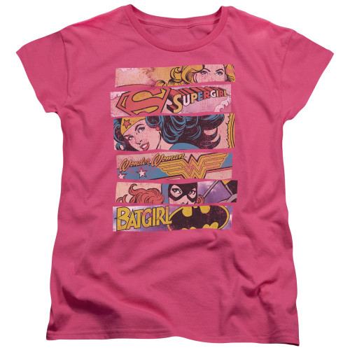 DC Comics Banners Ladies T Shirt