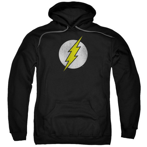 Flash Logo Distressed Pullover Hoodie