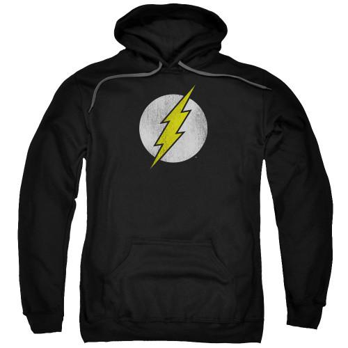 Flash Logo Distressed Pullover Hoodie