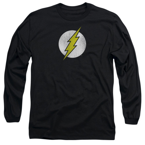 Flash Logo Distressed Long Sleeve T Shirt