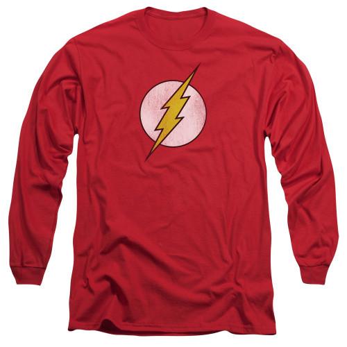Flash Symbol Distressed Long Sleeve T Shirt