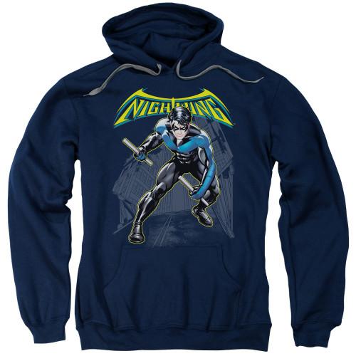 Nightwing Under Logo Pullover Hoodie