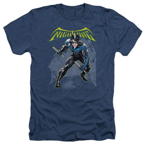 Nightwing Under Logo Heather T Shirt