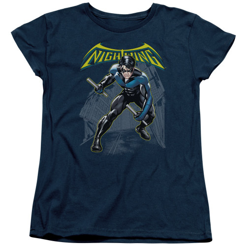 Nightwing Under Logo Ladies T Shirt