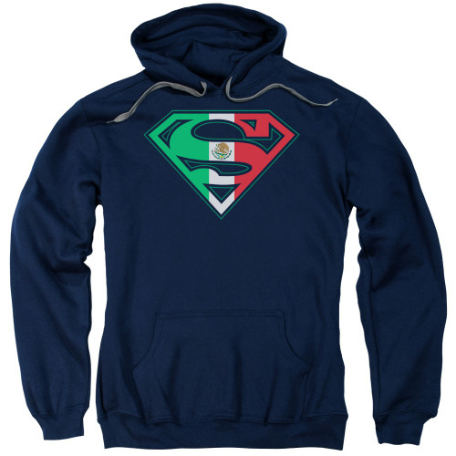 Superman Mexican Flag Navy Pullover Hoodie