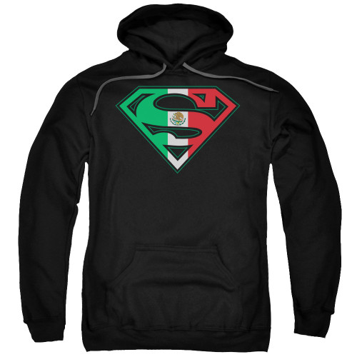 Superman Mexican Flag Black Pullover Hoodie