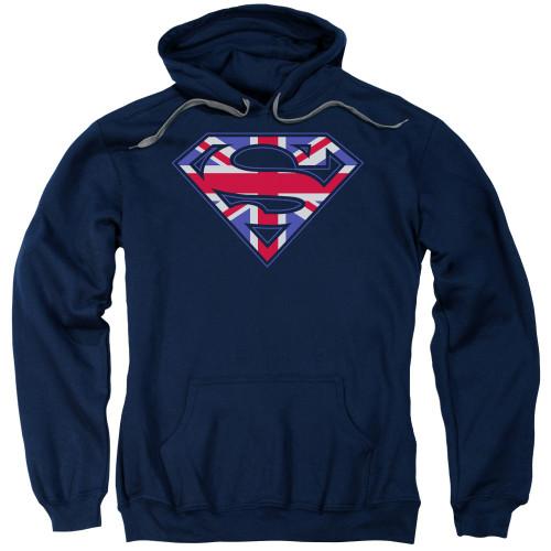 Superman Union Jack Pullover Hoodie
