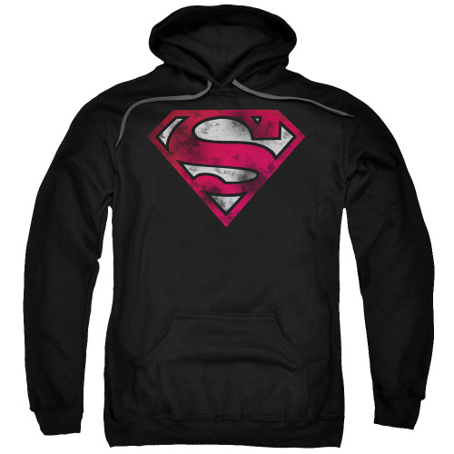 Superman Worn Logo Pullover Hoodie
