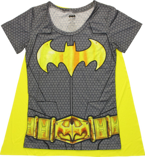 Batgirl Costume Sublimated Cape Juniors T-Shirt