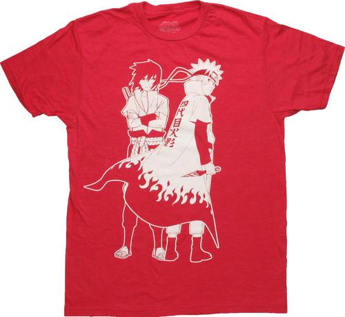 Naruto Sasuke Outline T-Shirt