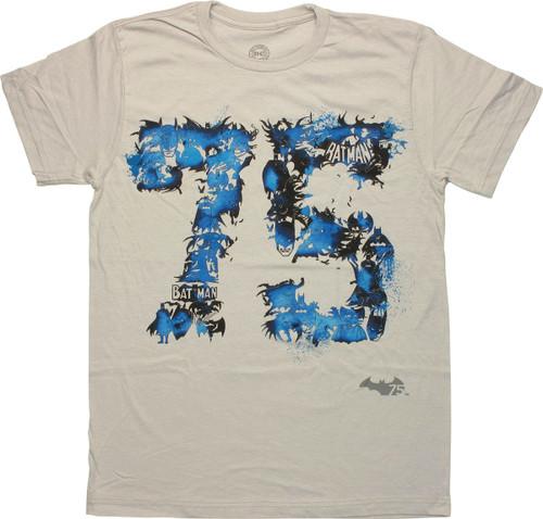 Batman 75 Action Collage T-Shirt