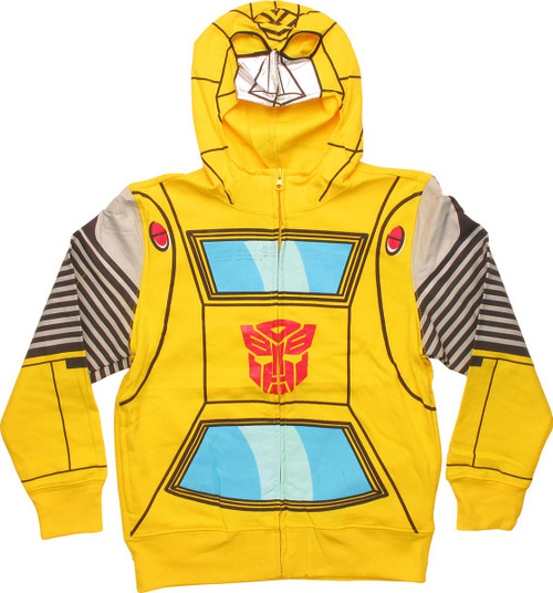 Transformers Bumblebee Foil Face Juvenile Hoodie