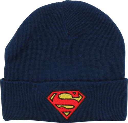 Superman Logo Knit Cuff Youth Beanie
