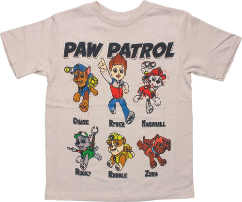 Paw Patrol Grid Names Juvenile T-Shirt