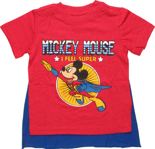 Mickey Mouse Feel Super Caped Toddler T-Shirt