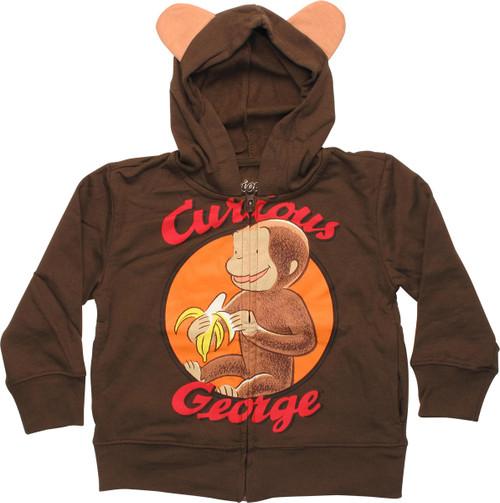 Curious George Monkey Ears Toddler Hoodie
