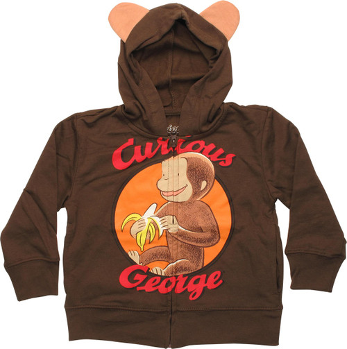 Curious George Monkey Ears Toddler Hoodie