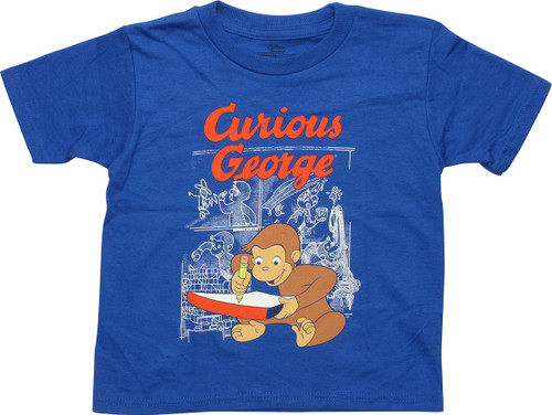 Curious George Drawing Toddler T-Shirt