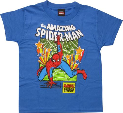 Amazing Spiderman Stars and Web Juvenile T-Shirt