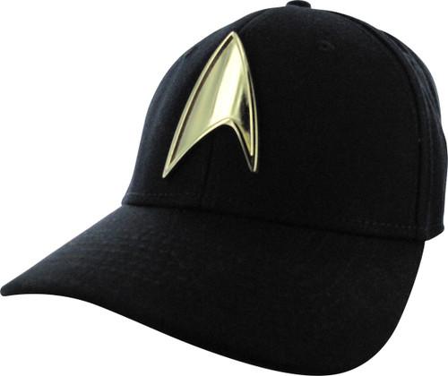 Star Trek Gold Badge Black Visor Flex Hat