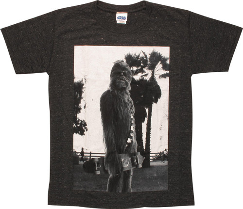 Star Wars Chewbacca Skateboard Youth T-Shirt