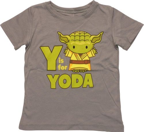 Star Wars Y is For Yoda Toddler T-Shirt