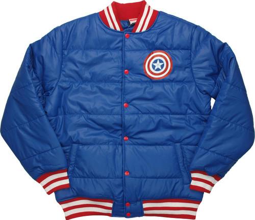 Captain America Shield Puffy Jacket