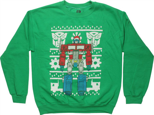 Transformers Optimus Prime Christmas Sweatshirt