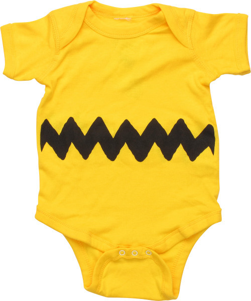 Peanuts Charlie Brown Shirt Costume Snap Suit