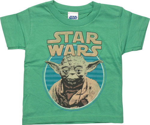 Star Wars Yoda Circle Green Toddler T-Shirt