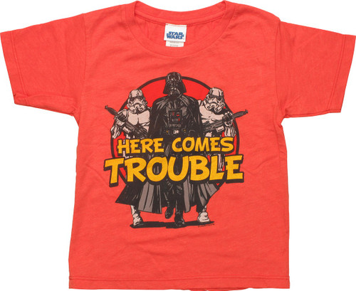 Star Wars Vader Here Comes Trouble Toddler T-Shirt