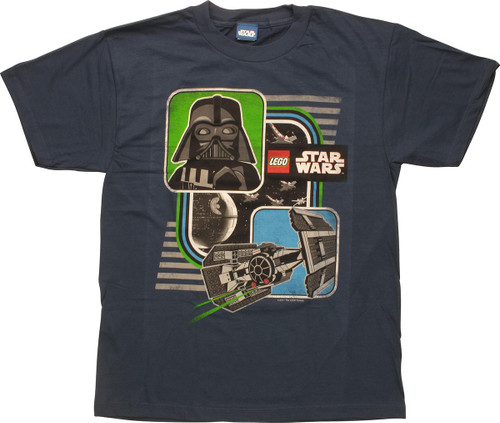 Star Wars Lego Vader TIE Fighter Youth T-Shirt