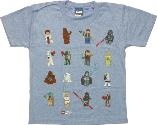 Star Wars Lego Characters Juvenile T-Shirt